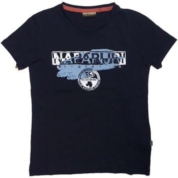 Vêtements Enfant T-shirts manches courtes Napapijri Kids K SHADOW T-shirt Enfant bleu bleu