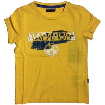 Vêtements Enfant T-shirts manches courtes Napapijri Kids K SHADOW T-shirt Enfant jaune jaune