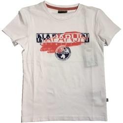 Vêtements Enfant T-shirts manches courtes Napapijri Kids K SHADOW 2 T-shirt Enfant blanc blanc