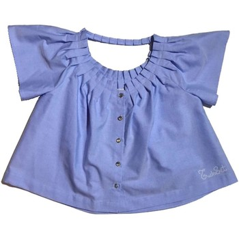 Vêtements Fille Chemises / Chemisiers Twin Set GS82QB 1 chemise fille Céleste Céleste