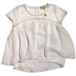 Vêtements Fille Tops / Blouses Twin Set GS82B2 1 pull-over fille blanc blanc