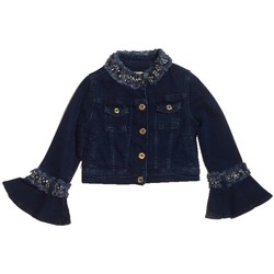 Vêtements Fille Vestes en jean Twin Set GS82W2 veste fille bleu bleu