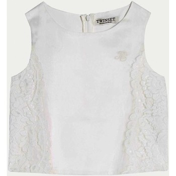 Vêtements Fille Tops / Blouses Twin Set GS8LDB Top fille blanc blanc