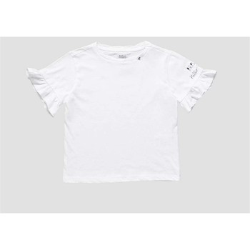 Vêtements Fille T-shirts manches courtes Replay PG7473 T-shirt fille blanc blanc