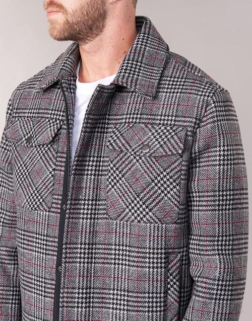 MADRILA  Benetton  manteaux  homme  gris