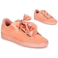 Chaussures Femme Baskets basses Puma WN SUEDE HEART SATIN.DUSTY Orange