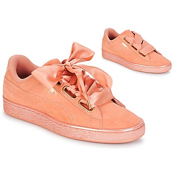 Chaussures Femme Baskets basses Puma WN SUEDE HEART SATIN.DUSTY Orange