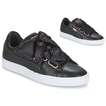 best service 5bbc5 08503 Chaussures Femme Baskets basses Puma WN SUEDE HEART LEATHER.BLA BLACK