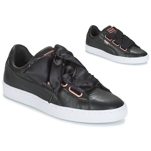 WN SUEDE HEART LEATHER.BLA