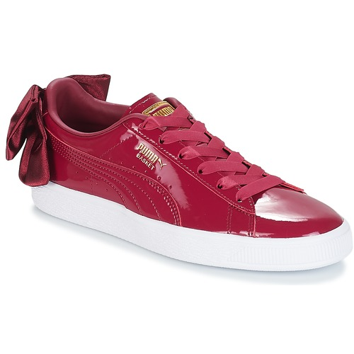 puma suede femme rouge a noeud