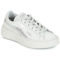 Chaussures Fille Baskets basses Puma G PS B PLATFORM BLING.GRAY GRAY