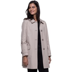 Vêtements Femme Manteaux Trench And Coat Riding-coat à capuche amovible Beige