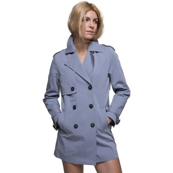 Vêtements Femme Manteaux Trench And Coat Trench court en gabardine de coton Bleu