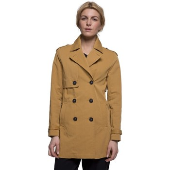 Vêtements Femme Manteaux Trench And Coat Trench court en gabardine de coton Jaune moutarde