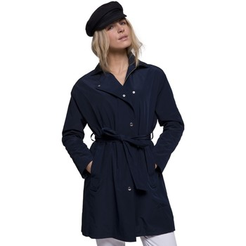 Vêtements Femme Trenchs Trench And Coat Trench fluide avec coupe oversize Bleu marine
