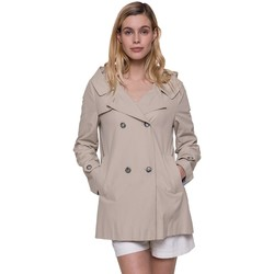 Vêtements Femme Trenchs Trench And Coat Trench court à capuche esprit marin Beige clair