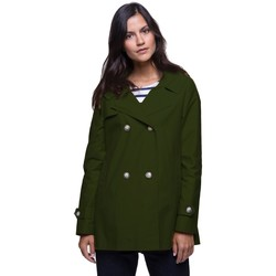 Vêtements Femme Trenchs Trench And Coat Trench court à capuche esprit marin Vert kaki