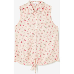 Vêtements Femme Chemises / Chemisiers Jennyfer Chemisier rayé à nouer roseclair