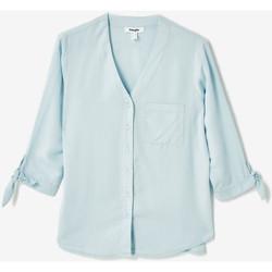 Vêtements Femme Chemises / Chemisiers Jennyfer Chemise col v ciel