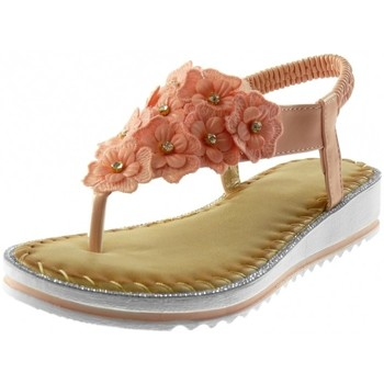 Chaussures Femme Sandales et Nu-pieds Bello Star Angkorly - Sandale Tong salomés - fleurs strass diamant Rose