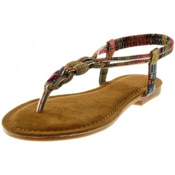 Chaussures Femme Sandales et Nu-pieds Bello Star Angkorly - Sandale Tong slip-on - fantaisie bijoux Rouge