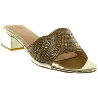 Chaussures Femme Claquettes Catisa Angkorly - Sandale Mule slip-on - strass diamant bijoux brillant Jaune
