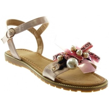 Chaussures Femme Sandales et Nu-pieds Catisa Angkorly - Sandale lanière cheville - ruban perle fantaisie Rose