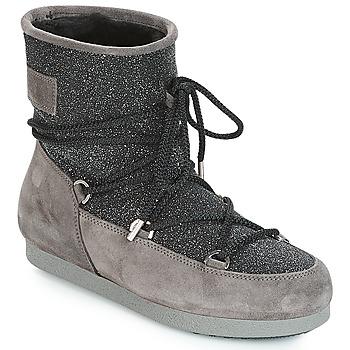 Chaussures Femme Bottes de neige Moon Boot FAR SIDE LOW SUEDE GLITTER Noir / Gris