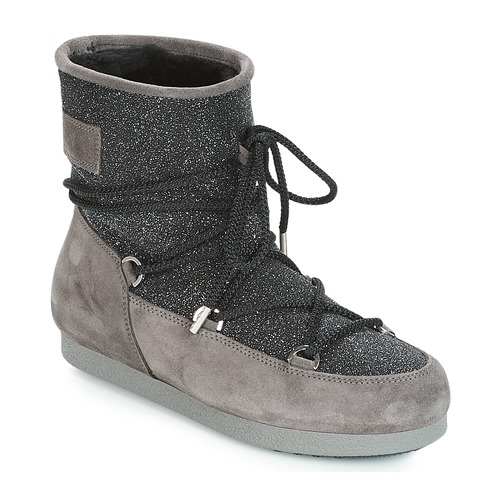 Boot Glitter Neige Side NoirGris Suede De Femme Low Moon Far Bottes 6vgf7Yby