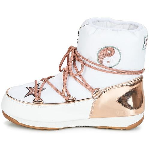 Gold Femme Love De Neige Boot Bottes Wp Moon BlancRose Peaceamp; jLA53Rq4