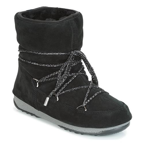 Chaussures Femme Bottes de neige Moon Boot LOW SUEDE WP Noir