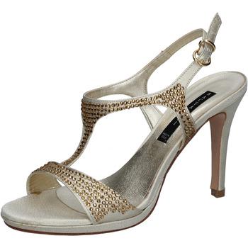 Chaussures Femme Sandales et Nu-pieds Bacta De Toi sandales platino satin strass BY95 autres