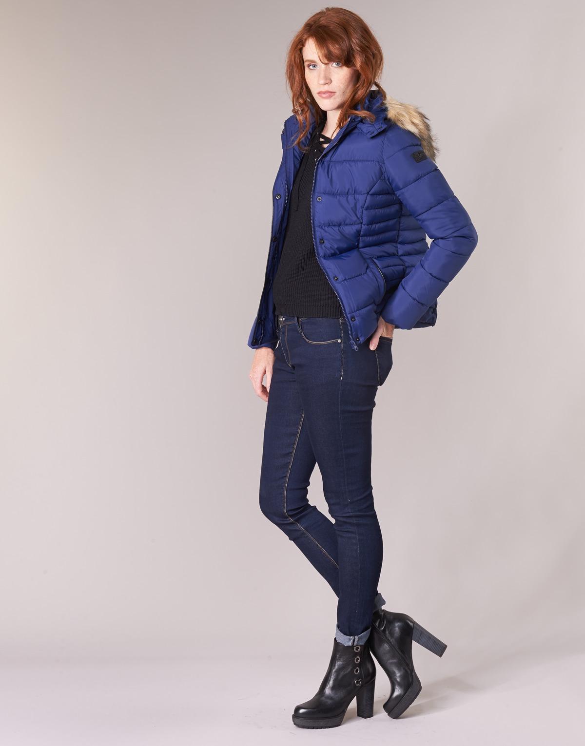 Kaporal Goldy Marine - Livraison Gratuite Vêtements Doudounes Femme 74,20 €