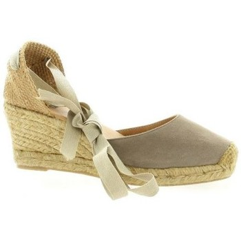 Chaussures Femme Espadrilles Pao Espadrilles cuir velours Taupe