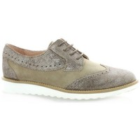 Chaussures Femme Derbies So Send Derby cuir laminé Taupe