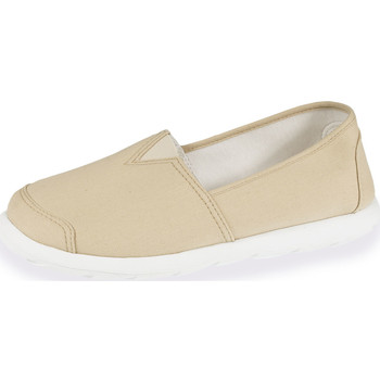 Chaussures Homme Slips on Isotoner Chaussures en toile homme beige