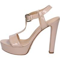 Chaussures Femme Sandales et Nu-pieds Mi Amor sandales rose cipria cuir verni BY169 rose