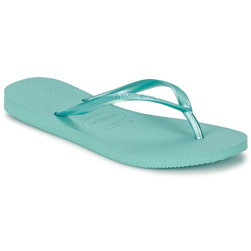 Chaussures Femme Tongs Havaianas SLIM Bleu Glace