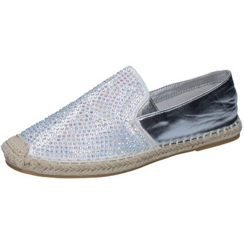 Chaussures Femme Mocassins Sara Lopez chaussures femme  espadrillas argent textile strass BY241 argent