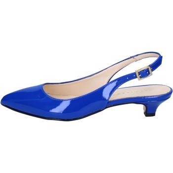 Chaussures Femme Sandales et Nu-pieds Olga Rubini sandales bleu cuir verni BY278 bleu