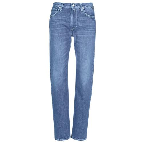 Vêtements Femme Jeans boyfriend Replay ALEXIS Bleu 009