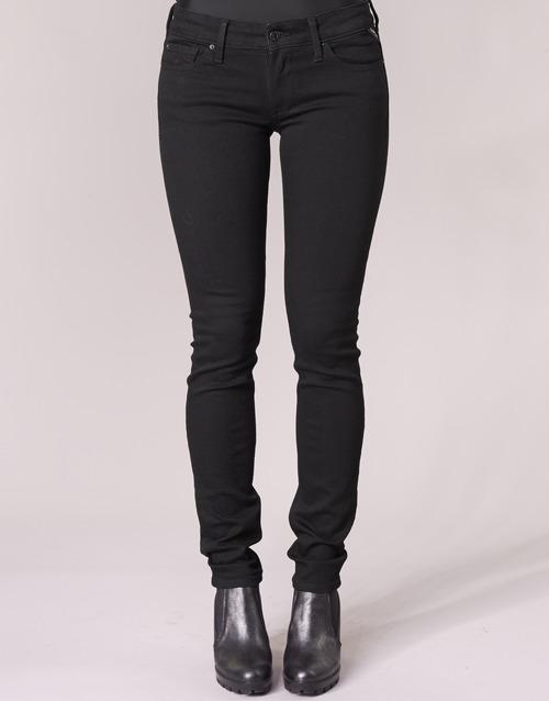Noir 098 Jeans Replay Luz Slim Femme 8OwPn0k