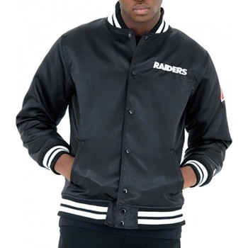 Vêtements Homme Blousons New Era Bomber NFL Oakland Raiders  FOR Bomber Sateen Noir Noir