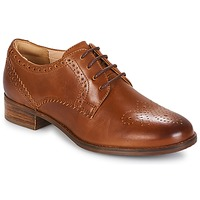 Chaussures Femme Derbies Clarks NETLEY Tan Leather