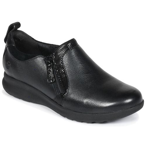 Chaussures Femme Derbies Clarks Un Adorn Zip Black Combi
