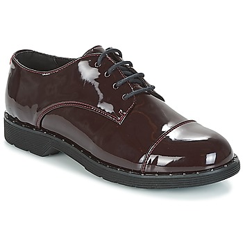 Chaussures Femme Derbies Coolway PARIS Bordeaux vernis