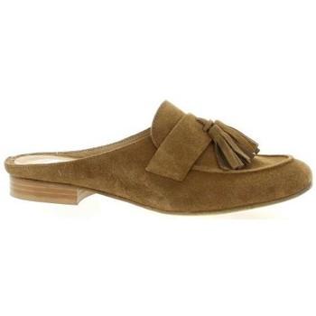 Chaussures Femme Sabots Pao Mules cuir velours Cognac