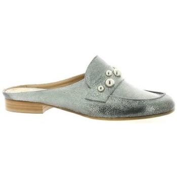 Pao Mules cuir laminé Argent - Chaussures Sabots Femme