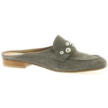 Chaussures Femme Sabots Pao Mules cuir velours Gris