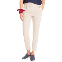 Vêtements Femme Chinos / Carrots Tommy Hilfiger MOA PLEATED CHINO BLEU MARINE